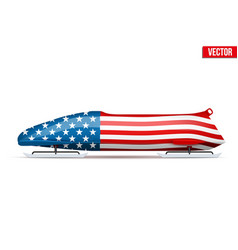 Usa bob for bobsleigh vector