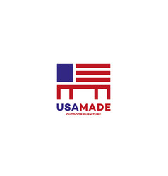 usa made furniture logo vector image
