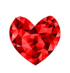 valentines day abstract geometric polygon heart vector image
