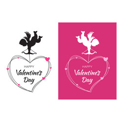 valentines day card design set cupid amur vector image