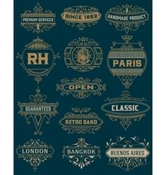 Vintage Designs template vector