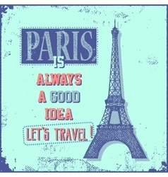 Vintage Touristic Greeting Card - Paris vector