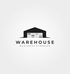 Vintage warehouse logo design vector