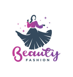 womens clothing logo design vector image