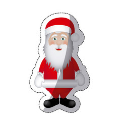 color sticker santa claus icon vector image vector image