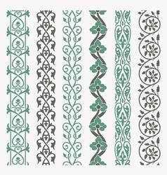 Decorative borders set vector