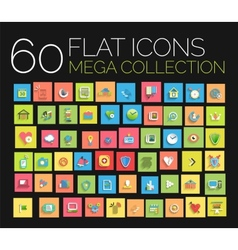 Flat icons mega collection vector image