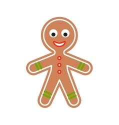 Gingerbread man cookie vector