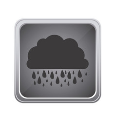 gray emblem cloud rainning icon vector image