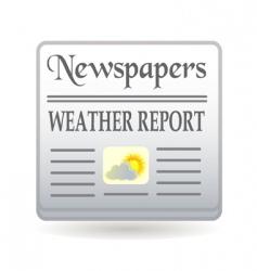newspaper weather report vector image vector image