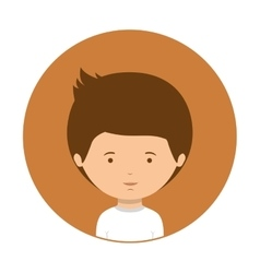 Orange of half body boy with white t-shirt vector