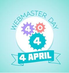 4 April Webmaster day vector image