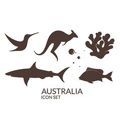 Australia Icon set vector image vector image
