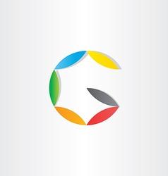 letter g colorfull symbol vector image