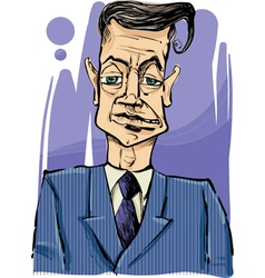 man in suit drawing vector image vector image