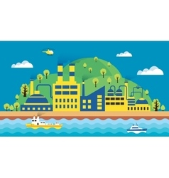 Urban landscape of the city vector image