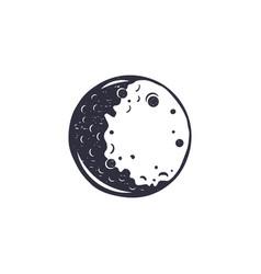 vintage hand drawn moon symbol silhouette vector image vector image