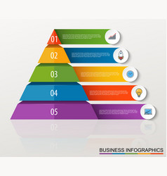 Infographic multilevel pyramid with numbers vector