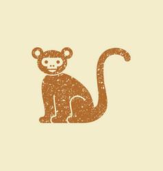 monkey flat icon vector image vector image