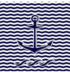 anchor symbol on the chevron background vector image