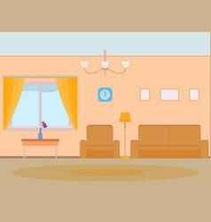 cartoon background living room vector image