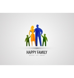 family logo design template parents or people icon vector image vector image