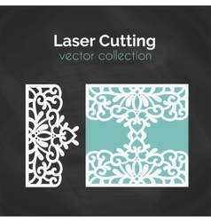 Laser Cut Template Card For Cutting Cutout vector image vector image