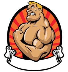 muscle bodybuilder vector image vector image