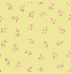 sheeps kids seamless pattern vector image