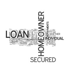 A brief overview of the secured homeowner loan vector