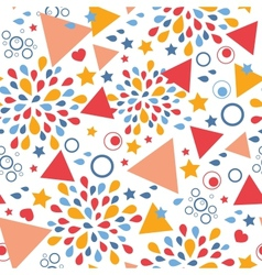 Abstract celebration seamless pattern background vector