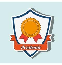 academic emblem design vector image vector image