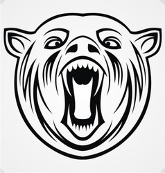 Angry Bear Tribal vector