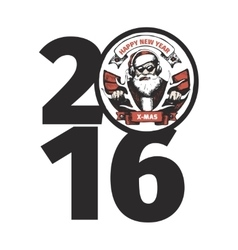 BAD SANTA 2016 vector image