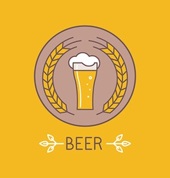Beer logo and sign vector