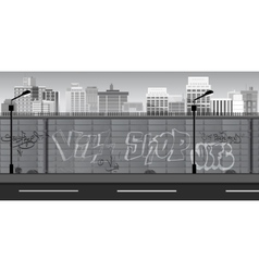 Black and white Landscape for game Seamless vector
