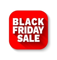 Black Friday Sale red flat icon vector image