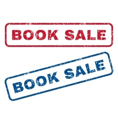 Book Sale Rubber Stamps vector
