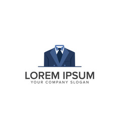 Business man clothes logo design concept template vector