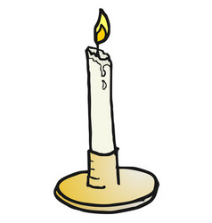 canddle draw vector image