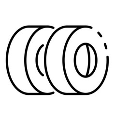 Car tyres icon outline style vector