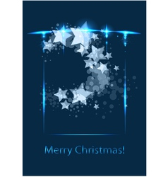Christmas card congratulatory template vector image