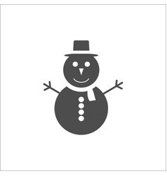 christmas icon snowman icon vector image