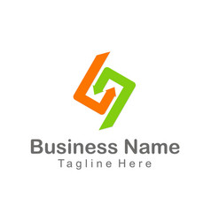 circle arrow colored company logo vector image