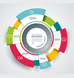 circle segments infographic design use vector image
