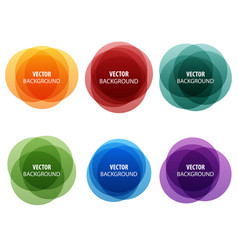 colorful round shape abstract banners vector image