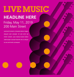 Cool live acoustic guitar show graphic vector