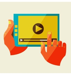 Creative concept with video player vector image
