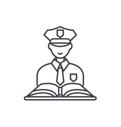 criminal law line icon concept criminal law vector image