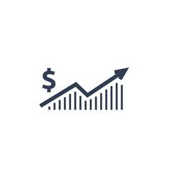 Dollar rate increase icon money symbol vector